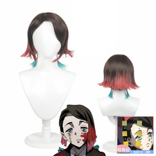 Anime Demon Slayer Kimetsu no Yaiba Enmu Cosplay Costume Wig
