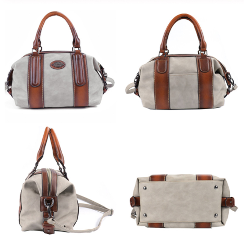 Image 4 - New Ladies Genuine Leather Shoulder Bag Large Capacity Vintage Women's Handbags Luxury Design Women Business Trip Big Tote Bags-in Top-Handle Bags from Luggage & Bags