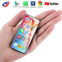 Melrose 2019 4G Lte Smallest Android Phone Google play 3.4'' Quad Core Android 8.1 Fingerprint ID Student MINI Small Smart Phone