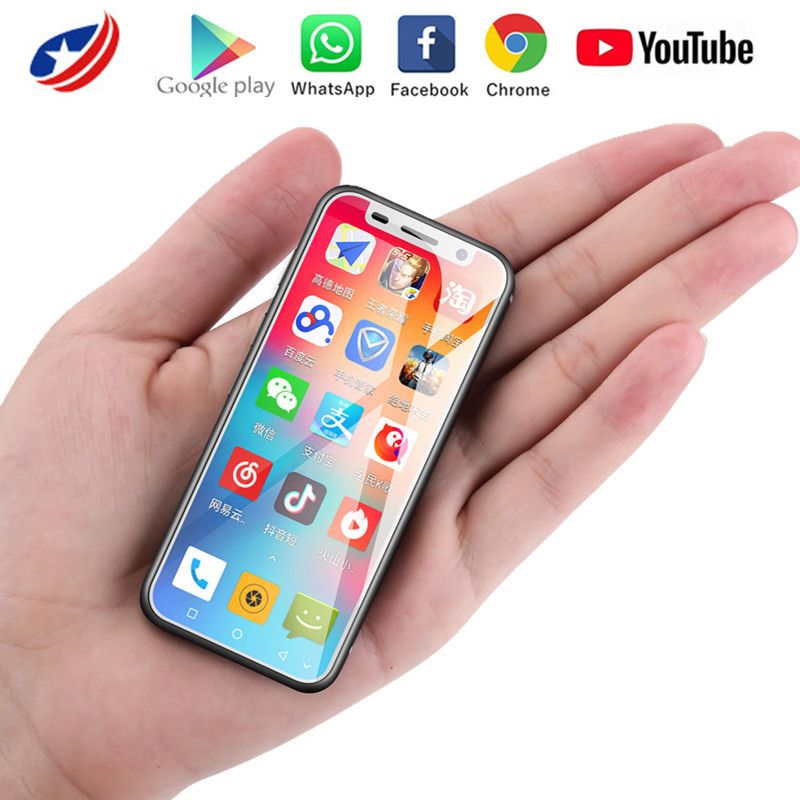 Melrose 2019 4G Lte plus petit téléphone Android Google play 3.4 ''Quad Core Android 8.1 identification d'empreintes digitales étudiant MINI petit téléphone intelligent
