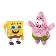 Divertente in america del fumetto figure micro blocco di diamante Patrick star SpongeBobs nanobrick giocattoli edificio di mattoni collection per i regali capretto(China)