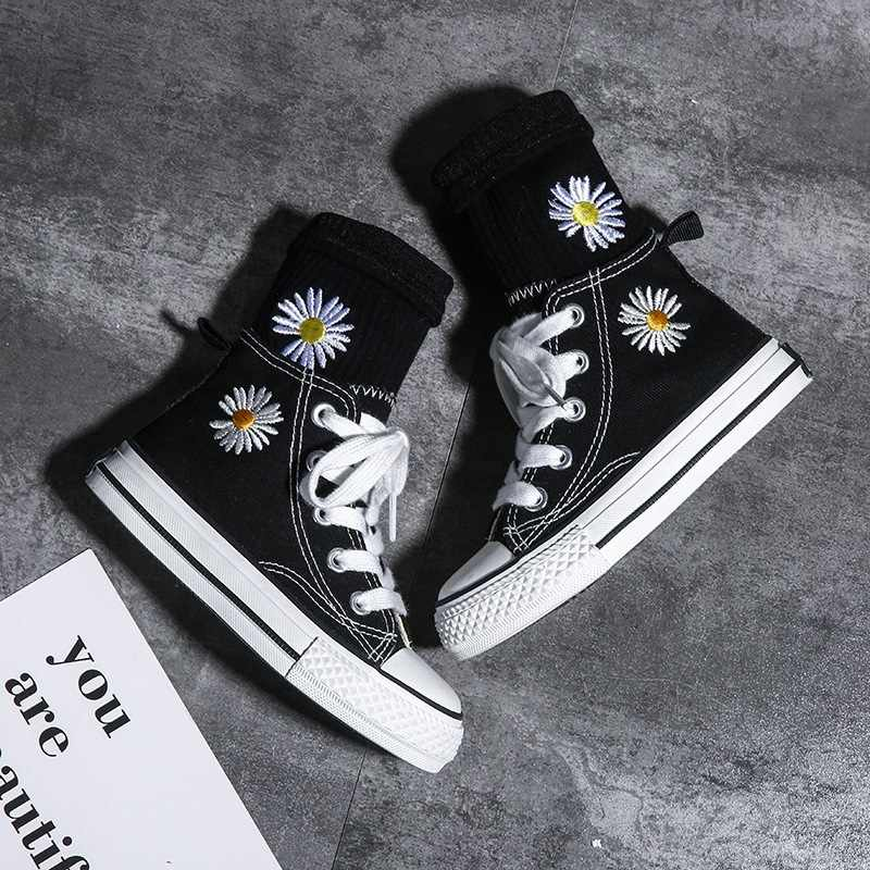 New Black Canvas Shoes For Children