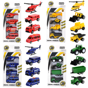 Diecast Car Helicopter Toys 1:64 Construction Vehicle Model Fire Truck Ambulance Aircraft Plane Tractor Sports Car Toy for Boys(China)