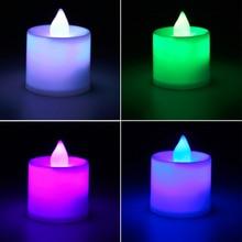 1 шт. превосходный романтичный светодиодный светильник со вспышкой, беспламенный светильник в виде свечи, для дня рождения, ужина, спа, вечерние, стильные украшения для комнаты в пабе