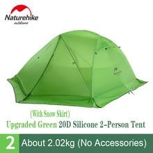 Natureike-tente de Camping Star River ultralégère, Double couche, étanche, avec tapis, voyage en plein air, randonnée, 20D