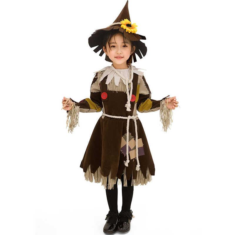 Yeni cadılar bayramı kostüm çocuk anaokulu kızlar küçük saman Drama sahne performansı kostüm Vocaloid Cosplay giyim