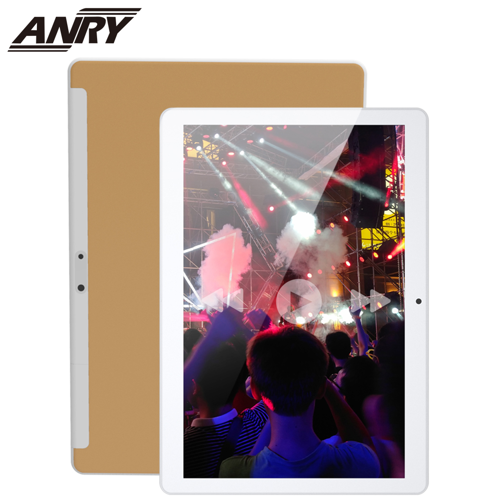 ANRY 10 Inch Tablet Android 7.0 64 GB Storage Octa Core Processo IPS HD Display Wi-Fi Bluetooth Black/Gold/Silver 4G Phone Call