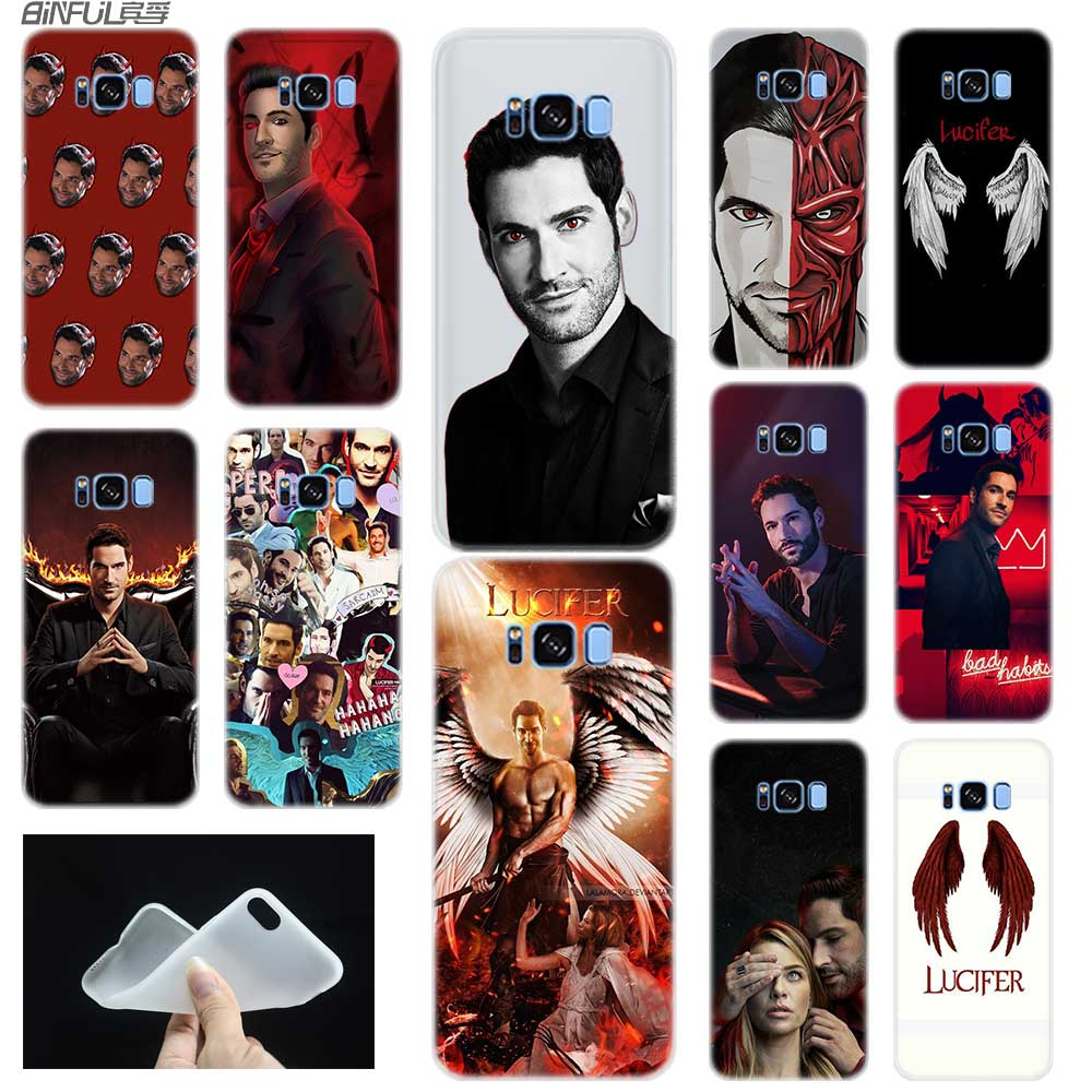 Baseus Clear Case For Samsung S6 S7 Edge S8 S9 S10 S11 Plus Fundas Coque Soft TPU Back Cover Note 8 9 10 Pro TV Series Lucifer image