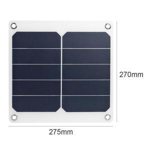Image 2 - 13W 5V panneau solaire sécurité qualité supérieure fiable chargeur de charge polyvalent USB haute puissance chargeur de sortie pour téléphone