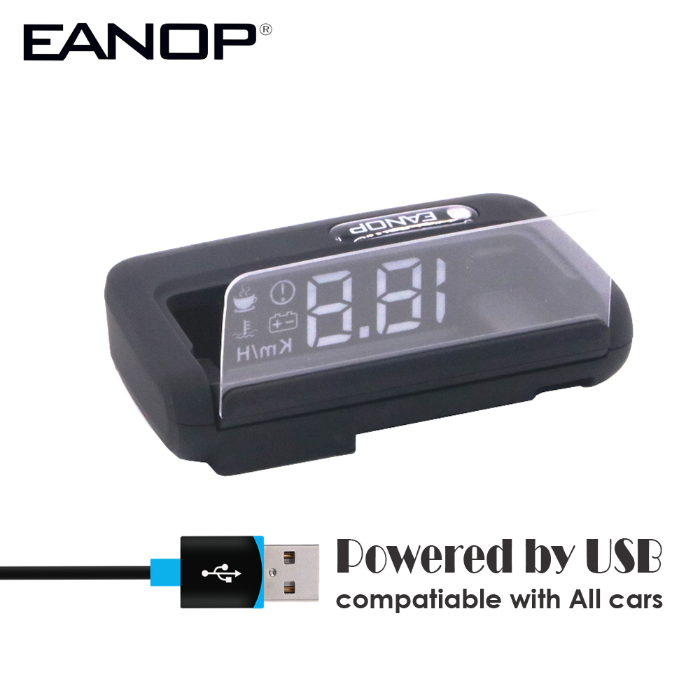 EANOP Mirror GPS HUD Head-up Display Car Speed Projector Auto Speedometer KMH/KPM Compatiable With All Cars, Truck Vehicle