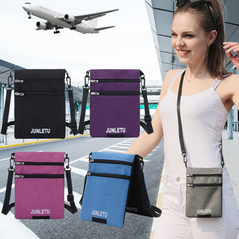 Fashion New Single Shoulder Diagonal Bag Waterproof Mobile Phone Bag Travel Document  Hanging Neck Small Bag Women's Wallet
