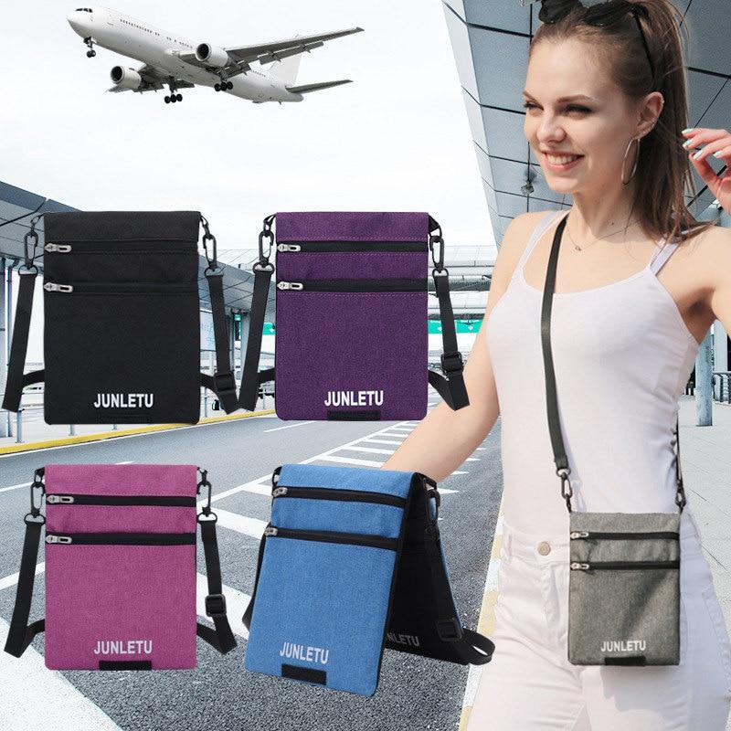 Fashion New Single Shoulder Diagonal Bag Waterproof Mobile Phone Bag Travel Document  Hanging Neck Small Bag Women's Wallet