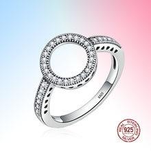 Круглые кольца на пальцы forever ясный черный круглый фианит