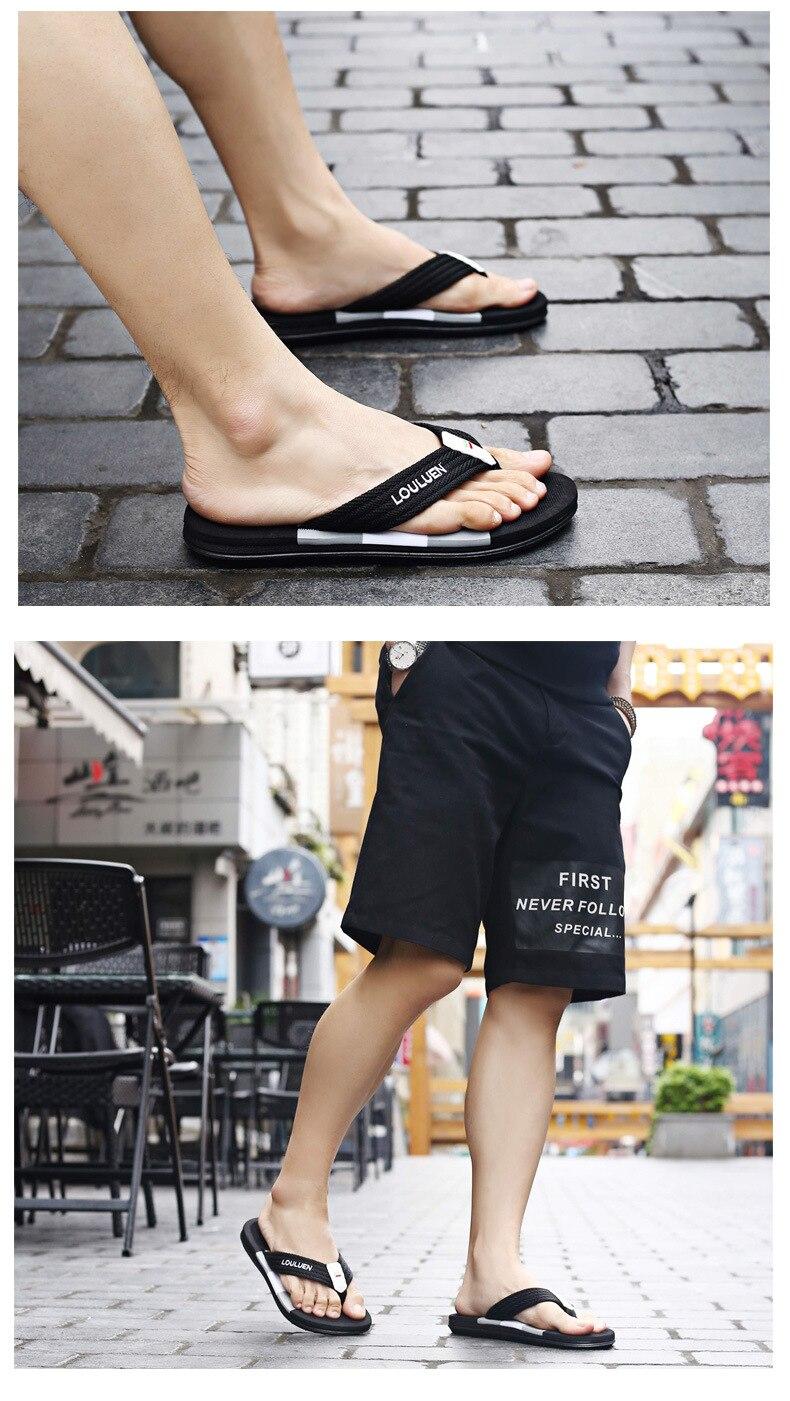 Chinelos homens sapatos de verão sandálias chinelo