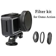 Кольцо адаптер объектива 52 мм из алюминиевого сплава с фильтром UV/CPL, комплект Повышающих Колец, крышка объектива для экшн камеры DJI OSMO, аксессуары