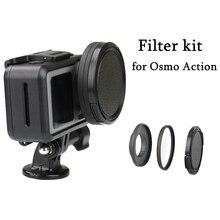 Alüminyum alaşım 52mm Lens adaptörü halkası UV/CPL filtre Step Up halka kiti Lens kapağı için DJI OSMO eylem kamera konnektör aksesuarları