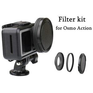 Image 1 - Anneau adaptateur dobjectif en alliage daluminium 52mm filtre UV/CPL Kit de bague dentraînement capuchon dobjectif pour accessoires de connecteur de caméra daction DJI OSMO