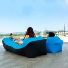 Inflatable Lounger Air Sofa Sleeping Bag Folding Lazy Bag Couch Chair Folding Beach Bed For Adults Travel Outdoor Camping Hiking 2018 new creative folding lazy sofas high quality sofa bed multifunctional couch for single double men