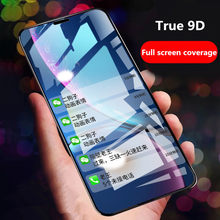 9D Full Cover Tempered glass For Huawei Y7 Prime Enjoy 8 8Plus Y9/Y7 2018 Protector Glass for honor 7c Y5 Prime 2018 honor 9i 9N(China)