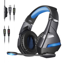 2020 new A2 gaming headset HiFi stereo 7.1 virtual surround bass with microphone LED light, suitable for PCgamers