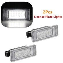 2x18 led branco número de carro luzes da placa de licença lâmpadas livre de erros para nissan serena c27 2016 nissan altima 2019 acessórios do carro