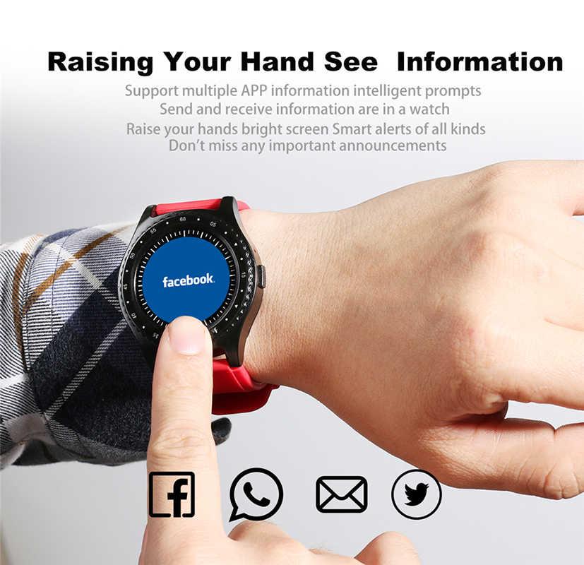 Ini 2019 Baru Smart Watch Pria Women Bluetooth Layar Sentuh Tahan Air Olahraga Smart Watch Mendukung Kartu SIM Reloj Inteligente + Kotak