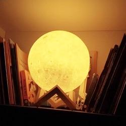 USB перезаряжаемая сенсорная 3D лампа с принтом Луны Креативный светодиодный Ночник светильник для украшения спальни подарок на день рождени...