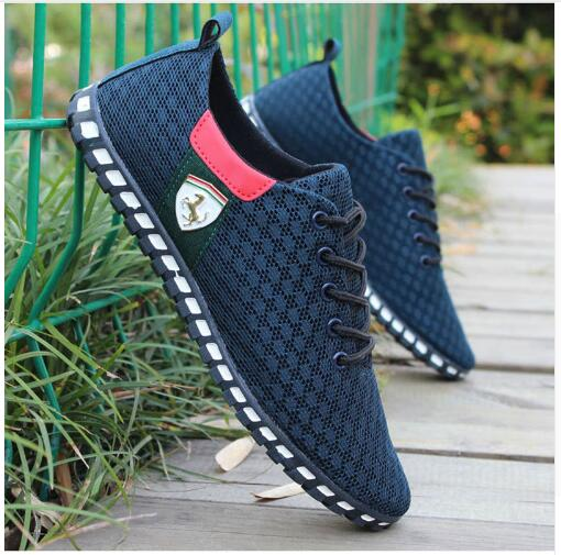 Men Casual Shoes New Arrival Breathable Mesh Flats Shoes Men Loafers Slip On Mens Driving Shoes Trainers