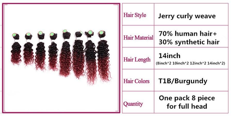 mulheres resistente ao calor preto borgonha 8 unidades pacote cabelo expo