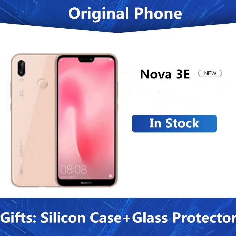 """Firmware global huawei p20 lite nova 3e 4g lte, celular com identificação facial, tela de 5.84 """", android 8.0 e 24mp câmera frontal 4gb 128gb rom"""