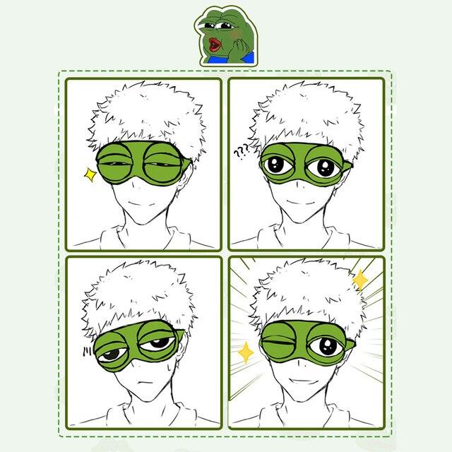 Kids Sleep Mask Cute Sleeping Eye Mask Plush Eye Cover Sleeping Mask 3D Frog Green Eye Band Rest Eyepatch Eye Blindfold 5