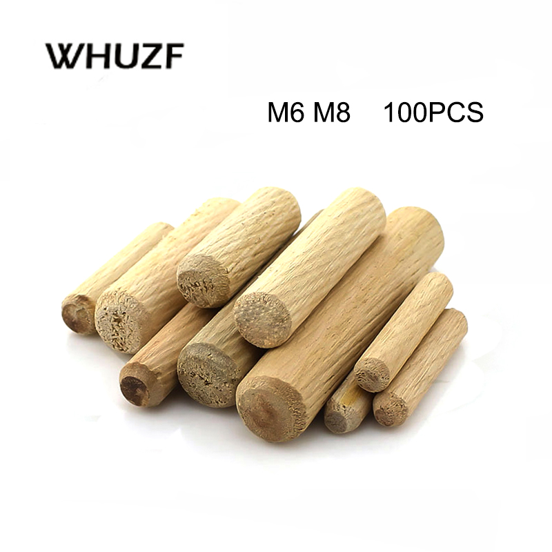 Dowel Pin Cavilha 100pcs Per Lot Twill 6/8mm Diameter Hardwood Round Furniture Fitting Wood Dowel Pin Free Shipping
