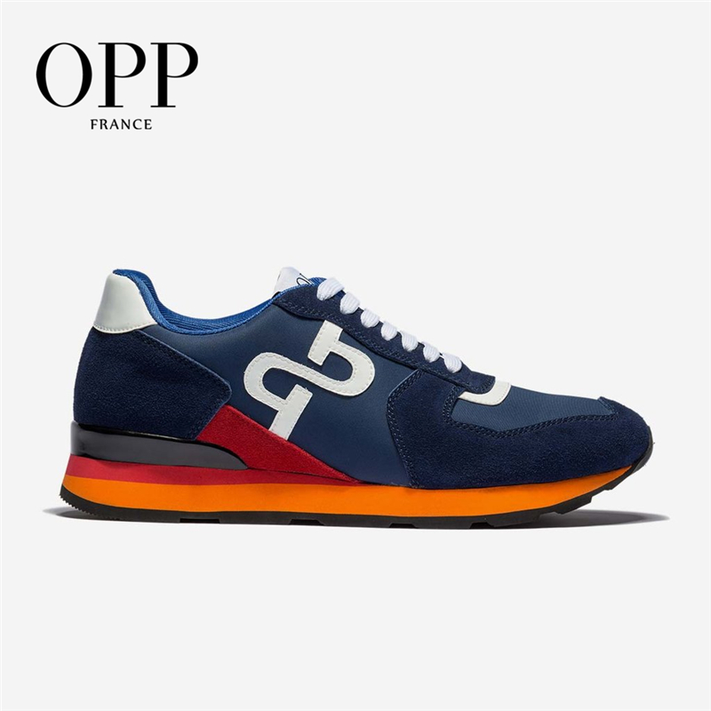 OPP Men's Shoes Cow Leather Flats Fashion Shoes Genuine Leather Lace-up Sports Shoes Men's Casual Footwear Sneakers