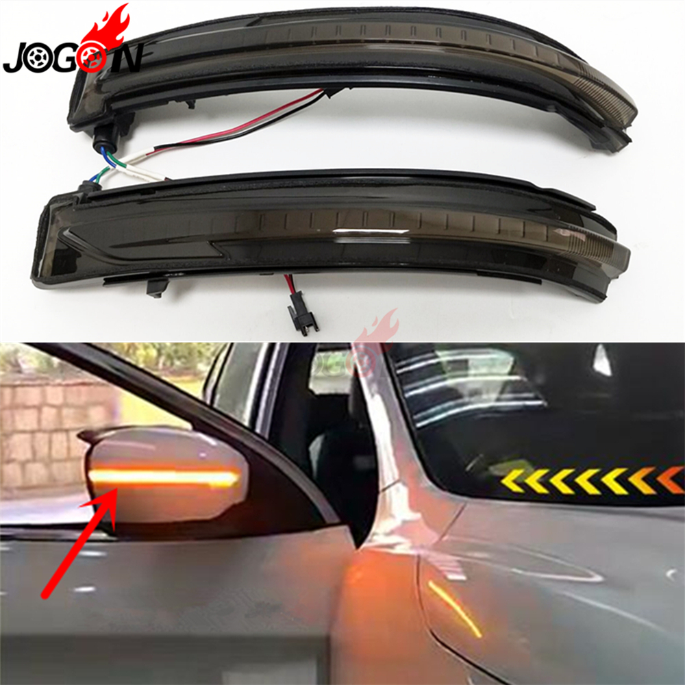 Rétroviseur latéral de voiture clignotant LED dynamique pour Nissan Rogue x-trail T32 Qashqai J11 2014 + Murano Z52 Pathfinder R52 2017 +