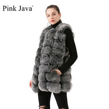 Fur Coat Jacket Vest Real-Fox-Fur Pink Java Winter Women Luxury Fashion Thick QC19035