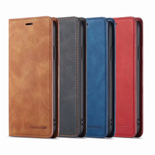 10Piece/lot For iPhone XS Case Magnetic Phone Cover Wallet Flip Leather Stand X