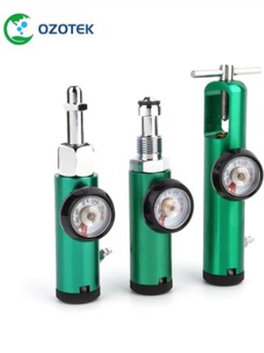 Flowmeter Oxygen-Tank-Regulator CGA540 Medical Connection CGA870 Brass-Sleeve 0-4LPM