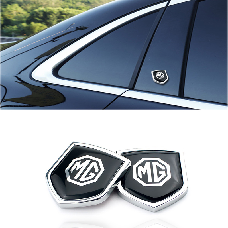 For MG Logo Zinc Alloy Car Body Badge Emblems Decal Front Trunk Stickers For MG3 5 6 7 TF ZR ZS HS GS GT Automobile Decoration