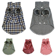 Pet-Dog-Clothes Puppy-Shirts Summer Plaid Small Chihuahua for Soft Cat-Vests Cotton