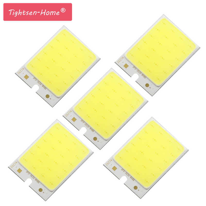 10PCS 36*26mm COB LED Light 2W Rectangle Shape DC 12V LED Bulb 6500K Cold White For DIY Auto Lamp Work Lights House Lighting