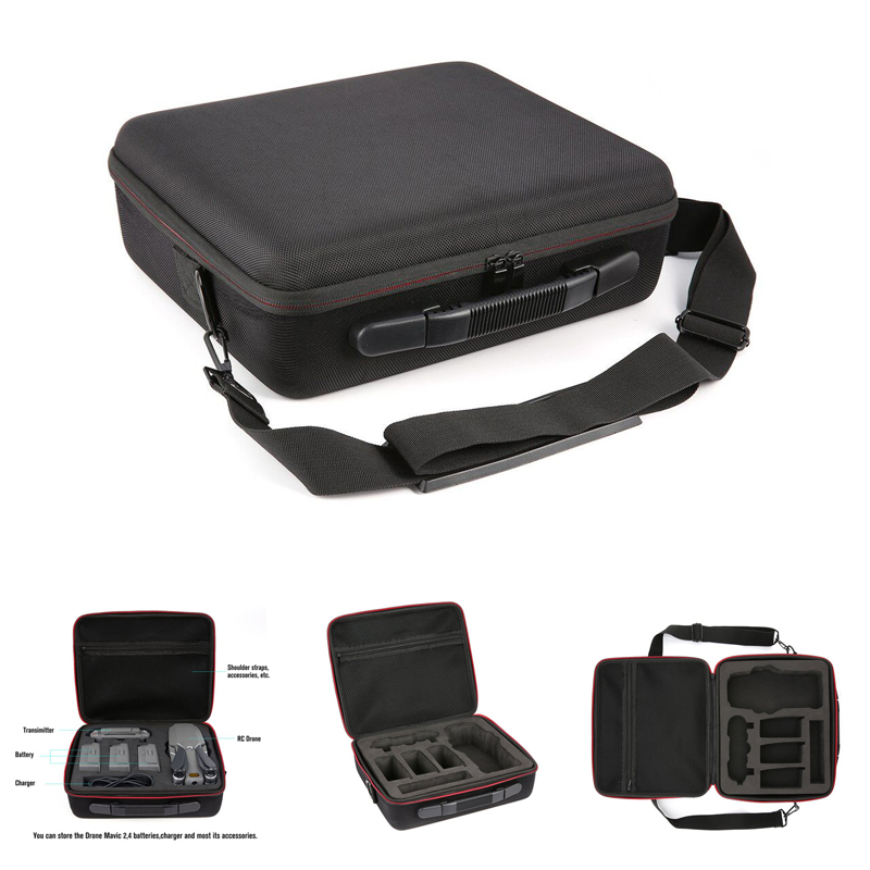 For Mavic 2 Carrying Case Hard Shell Storage Bag+8743 Low Noise Propeller+Drone Parking Apron Waterproof Pad For DJI Mavic 2 ProDrone Bags   -