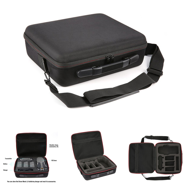 For Mavic 2 Carrying Case Hard Shell Storage Bag+8743 Low Noise Propeller+Drone Parking Apron Waterproof Pad For DJI Mavic 2 Pro
