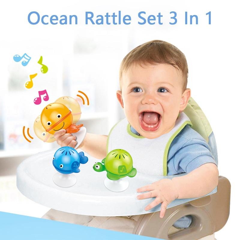 Присоски погремушки для малышей Игры развивающие игрушки для малышей 0 6 до 12 мес., для новорожденных и маленьких детей, образования детей, но...