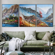 Abstract Landscape Canvas Painting Mountain Scenery Oil Painting Posters And Prints Wall Art Room Decoration Home Decor Pictures laeacco nordic oil painting abstract forest landscape canvas posters and prints wall art canvas painting modern room decoration