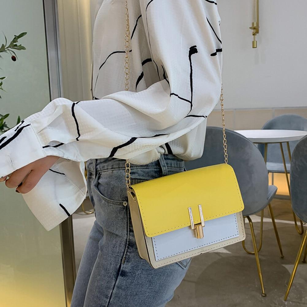 2019 High Quality Women Small Shoulder Bag PU Leather Chain Envelope Flap Crossbody Messenger Handbag Purse Satchel