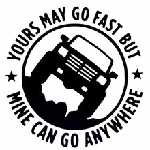 Car-Stickers 4X4 1pcs 15cm--15cm CAN YOURS May-Go Funny Fast-Mine Go-Anywhere Creative
