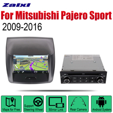 ZaiXi Auto DVD Player GPS Navigation For Mitsubishi Pajero Sport Montero Sport 2009~2016 Car Android Multimedia System Screen lsqstar 7 car dvd player w gps radio aux swc 6cdc tv canbus dual zone for mitsubishi pajero montero