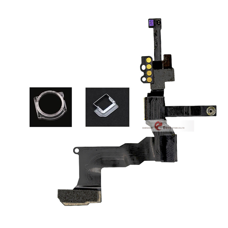 High Quality Front Camera Ring Holder For iPhone 5 5S 5C 6S 6 Plus Front Facing Camera Lens Right Proximity Sensor Flex Cable
