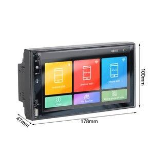 Image 3 - راديو سيارة من AMPrime 2 Din عالي الدقة ستيريو سيارة بشاشة 7 بوصات تعمل باللمس العالمية MP5 راديو سيارة USB FM AUX يدعم الكاميرا الاحتياطية ملحقات السيارة