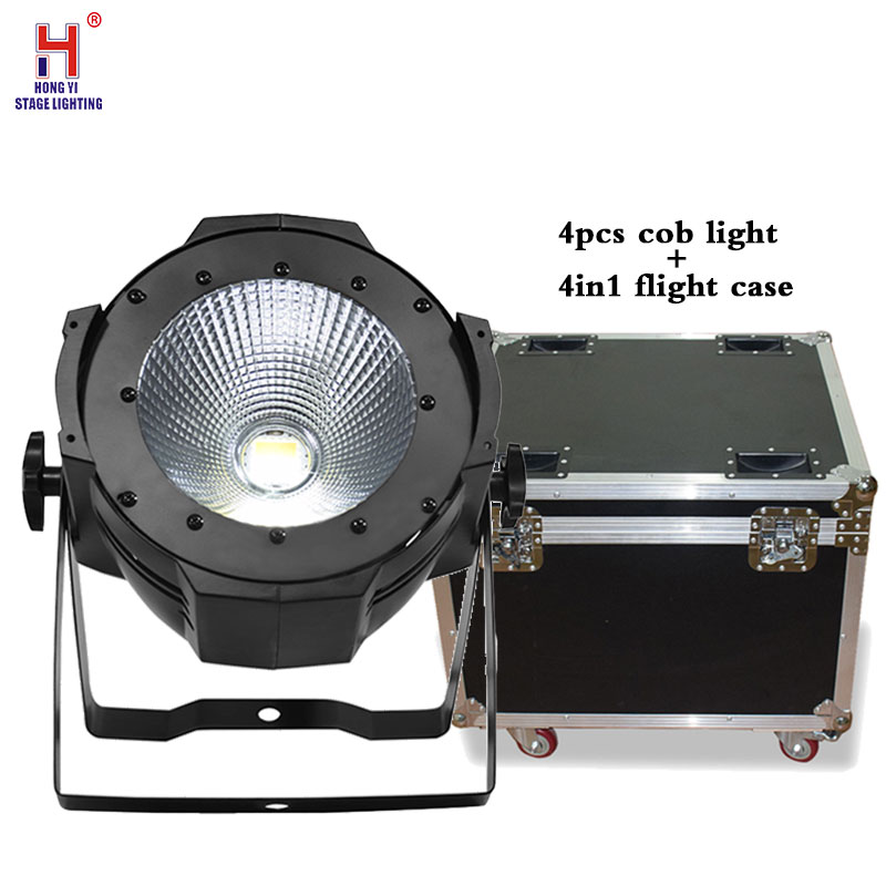 Super Bright 100W COB par LED Flood Light LED Floodlight Led Spotlight Outdoor par light with flight case (4pcs/lot)|lot flight case|flight case|led flight case - title=